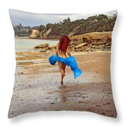 Little Mermaid On Land Throw Pillow