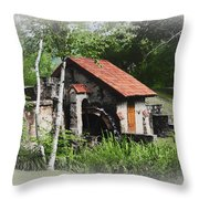 Little Mill Eastern State College - Faded Throw Pillow