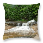 Little Miner Falls Throw Pillow