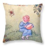 Little Miss Muffet Throw Pillow