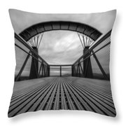 Little Mountain Sky Bridge Throw Pillow