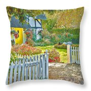 Little Newton Cottage Throw Pillow