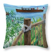 Little Palm Island Throw Pillow