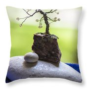 Little Pearl Tree Throw Pillow