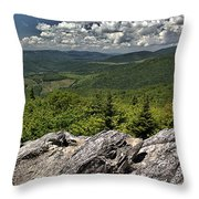 Little Pinnacle Grayson Highlands Va Throw Pillow