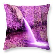 Little Pony Tail Falls  Throw Pillow