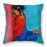 Little Pray-er Throw Pillow