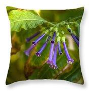 Little Purple Bells Throw Pillow