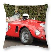 Little Red Ac Bristol Racer Throw Pillow