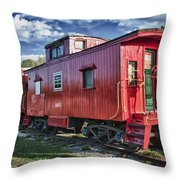 Little Red Caboose Throw Pillow
