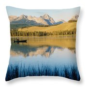 Little Red Fish Lake, Stanley, Idaho Throw Pillow