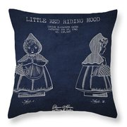 Little Red Riding Hood Patent Drawing From 1943 Throw Pillow by Aged Pixel