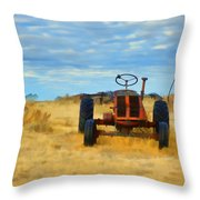 Little Red Tractor 4 Throw Pillow