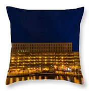 Little Red Tug Boat Throw Pillow