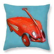 Little Red Wagon Throw Pillow