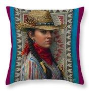 Little Rising Hawk Throw Pillow by Jane Bucci