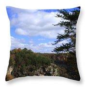 Little River Canyon Alabama Throw Pillow