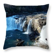 Little River Falls Throw Pillow
