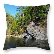 Little River Near Cades Cove Throw Pillow