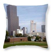 Little Rock Arizona Skyline Throw Pillow