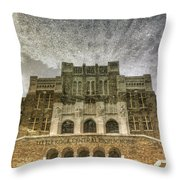 Little Rock Central High Reflecting Upon The Past Throw Pillow by Jason Politte