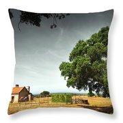 Little Rural House Throw Pillow