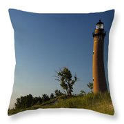 Little Sable Lighthouse By Silver Lake Michigan No.557 Throw Pillow