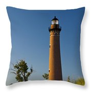 Little Sable Lighthouse On The Dune By Silver Lake Michigan No.560 Throw Pillow