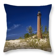 Little Sable Point Light No.0285 Throw Pillow