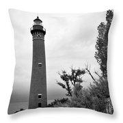 Little Sable Point Lighthouse IIi Throw Pillow