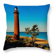 Little Sable Point Throw Pillow