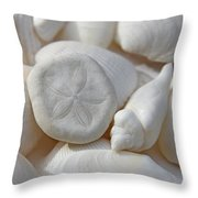 Little Sand Dollar And Seashells Throw Pillow