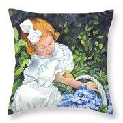 Sophies Hydrangeas Throw Pillow