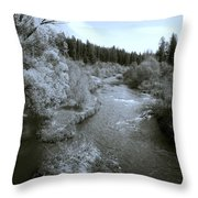 Little Spokane River Beauty Throw Pillow