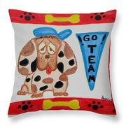 Little Sport Throw Pillow by Diane Pape