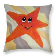 Little Starfish Throw Pillow