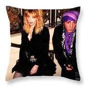 Little Stevie Van Zandt 1989 Throw Pillow