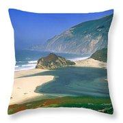 Little Sur River In Big Sur Throw Pillow