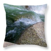 Little Susitna On The Rocks Throw Pillow