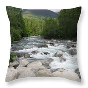Little Susitna River Throw Pillow