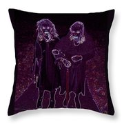 Little Vampires Throw Pillow