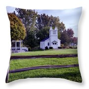Little Village Chapel Of The Immanuel Lutheran Church Throw Pillow