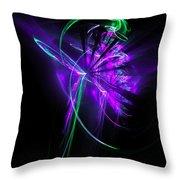 Little Violet Flower Throw Pillow