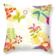 Little Watercolor Garden Throw Pillow