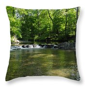 Little Waterfall At Green Lane Pa. Throw Pillow
