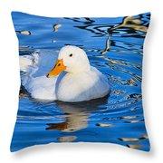 Little White Duck Throw Pillow