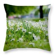 Little White Flowers II Throw Pillow