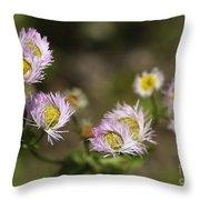 Little Wild Flowers Throw Pillow