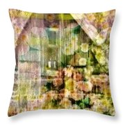 Little Witch Cottage Throw Pillow