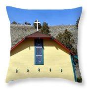 Little Yellow Church Throw Pillow